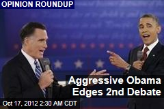 Aggressive Obama Edges 2nd Debate