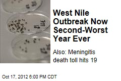West Nile Outbreak Now Second-Worst Year Ever