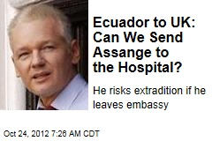 Ecuador to UK: Can We Send Assange to the Hospital?