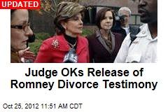 Judge Postpones Ruling on Sealed Romney Testimony