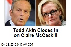 Todd Akin Closes In on Claire McCaskill