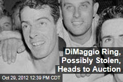 DiMaggio Ring, Possibly Stolen, Heads to Auction