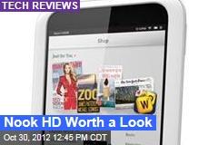 Nook HD Worth a Look