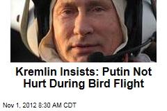 Kremlin Insists: Putin Not Hurt During Bird Flight