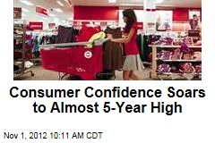 Consumer Confidence Soars to Almost 5-Year High