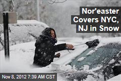 Nor'easter Covers NYC, NJ in Snow