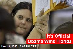 It's Official: Obama Wins Florida