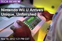 Nintendo Wii U Arrives Unique, Unfinished