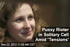 Pussy Rioter in Solitary Cell Amid 'Tensions'