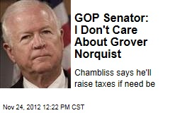 GOP Senator: I Don't Care About Grover Norquist