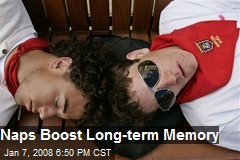 Naps Boost Long-term Memory
