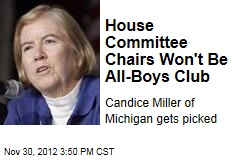 House Committee Chairs Won't Be All-Boys Club