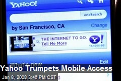 Yahoo Trumpets Mobile Access