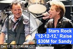 Rock Royalty Takes Stage for Sandy Relief