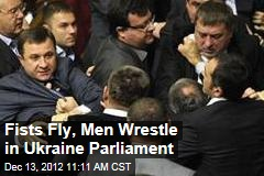 Fists Fly, Men Wrestle in Ukraine Parliament
