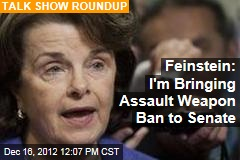Feinstein: I'm Bringing Assault Weapon Ban to Senate