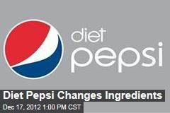 Diet Pepsi Changes Ingredients