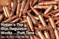 Nation's Top Gun Regulator Works Part Time