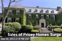 Sales of Pricey Homes Surge