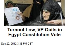 Turnout Low, Official Resigns in Egypt Constitution Vote