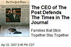 The CEO of The Post Defends The Times in The Journal