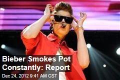 Bieber Smokes Pot Constantly: Report
