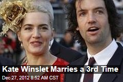 Kate Winslet Marries a 3rd Time