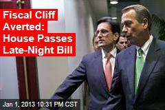 House to Vote on Senate Cliff Bill Tonight