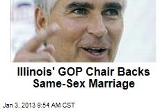 Illinois' GOP Chair Backs Same-Sex Marriage