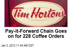 Pay-it-Forward Chain Goes on for 228 Coffee Orders