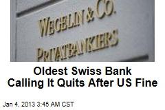 Swiss Bank Closing Doors in US Tax-Dodging Case