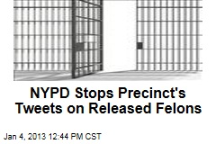 NYPD Stops Precinct's Tweets on Released Felons