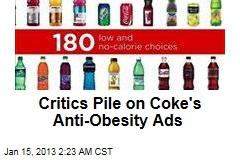 Coke Anti-Obesity Ads Slammed