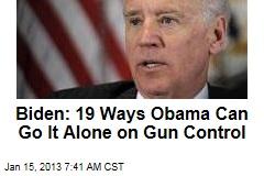 Biden Eyes 19 Executive Actions on Gun Control