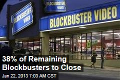 38% of Remaining Blockbusters to Close