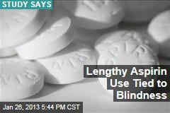 Lengthy Aspirin Use Tied to Blindness
