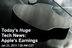 Today's Huge Tech News: Apple's Earnings