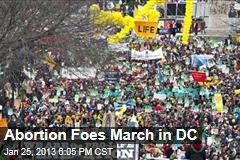 Abortion Foes March in DC