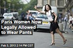 Paris Women Legally Allowed to Wear Pants