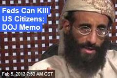 Justice Memo Makes Case for Killing US Citizens