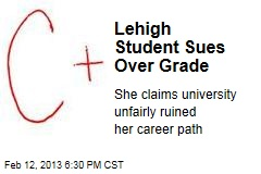 Lehigh Student Sues Over Grade