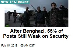 After Benghazi, 55% of Posts Still Weak on Security