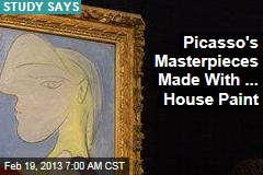 Picasso's Masterpieces Made With ... House Paint