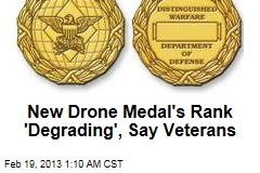 Downgrade Drone Medal, Veterans Urge