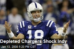 Depleted Chargers Shock Indy