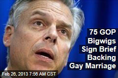 75 Leading GOPers Sign Pro-Gay Marriage Brief