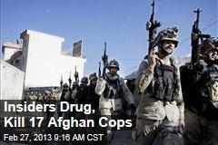 Insiders Drug, Kill 17 Afghan Cops