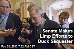 Senate Makes Limp Efforts to Duck Sequester
