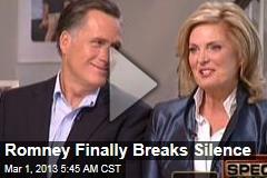 Romney Breaks Silence on 'Roller Coaster' Election