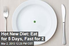 Hot New Diet: Eat for 5 Days, Fast for 2